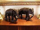 Pair Antique/Detailed Charging Bull Elephant Statues ~ AMAZING!