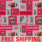 Fleece Fabric University Ohio State NCAA 60 Wide Style OHS 014 Free Shipping