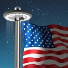 Solar Flag Pole 7th Gen Light Bright 26 LED Solar Powered Waterproof LED USA