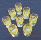 Tiffin Franciscan Antique Thumbprint Wine liquor Cocktail Golden Yellow  8 ct