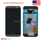 Black For HTC One M9 LCD Display Touch Screen Digitizer W/Frame Assembly +Tools