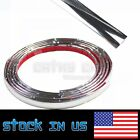 Chrome Silver Moulding Trim Strip For Front Back Roof Trunk Lid 12mmx16ft