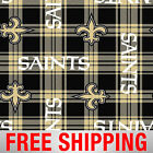 Fleece Fabric New Orleans Saints NFL Anti Pill 60 Wide Free Shipping NEWO 6444