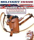 Military Issue BROWN Leather Shoulder Holster M7 M9 1911 45Cal 9mm Adirondack