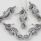 15Pcs Sea Horse Pendeant Tibet Silver Charms Necklace Jewelry Making 229mm