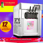 Hot Sales Commercial Tablet Top 3-Flavors Soft Ice Cream Machine,8L/H capacity