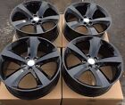 SET OF FOUR 4 20 x8 WHEELS RIMS fit DODGE CHARGER CHALLENGER MAGNUM BLACK NEW