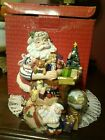 Fitz & Floyd Santa and Toys Musical Figurine with original box Plays Toyland