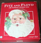 Fitz & Floyd Classics Old Fashioned Christmas Santa Canape/Appetizer Plate w/Box