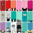 Cute Dog Pattern Slim Soft Rubber Phone Case Cover For Iphone 5 5S 6 6S 7 PLUS