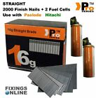 16 Gauge Straight Second Fix Nails for Paslode / Hitachi / BEA / Makita     07
