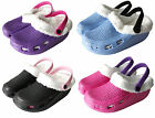 Women Slip on Fur Warm Clog Slippers Shoes Sandals Comfy Soft Womens
