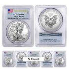 PRESALE Lot of 5 2017 1 oz Silver American Eagle 1 Coin PCGS MS 69 First St
