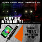 60 5FT RGB Frost 5050 LED Light Whip Quick Release Bluetooth Offroad 1Pc B