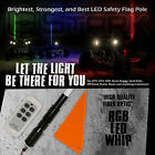60 5FT RGB New Fiber Optic LED Light Whip Quick Release Remote Offroad 1Pc B
