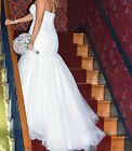 White Wedding Dress Slip Petite Size 10 Dry Cleaned Strapless No Stains