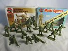 AIRFIX Vintage WWII British Commando Toy Soldiers, 14 figures (54MM) W/Box x 2