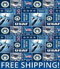 Fleece Fabric Air Force Military Branch Style 1098 60 Wide Free Shipping