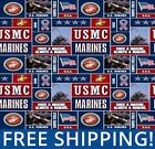 Fleece Fabric US Marines Military Branch 60 Wide Style 1099 Free Shipping