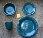 Fiesta Ware Retired Juniper 4 piece place setting - Good Condition - Set 2
