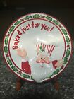 FITZ AND FLOYD CHRISTMAS CONFECTIONS SANTA PLATE 9 INCH NEW!
