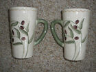 Oneida OLIVETO Cups Mugs set of 2 Hand Painted Textured