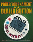 Poker Tournament Dealer Button Black Blue Red Casino Timer