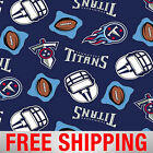 Fleece Fabric Tennessee Titans NFL Anti Pill 60 Wide Free Shipping TEN 6218