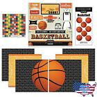 Scrapbook Customs Go Big Basketball Themed Paper and Stickers Scrapbook KitNew