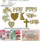 Anna Griffin Cuttlebug Valentine Flowers Love Easter Bunny Holiday Embossing Die