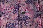 Northcott Silk Cotton Fabric Quilt Floral Leaves Foliage Pink Purple Exotic 2Y