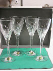 Waterford Merrill crystal 4 goblets new in perfect condition in original box