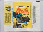 1966 TOPPS BATMAN RIDDLER RIDDLE BACK 5 Cent Wax Pack Wrapper