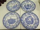 Wedgwood China - 1927 - Harvard University - 4 Blue Collector Dinner Plates