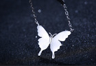 Fashion Butterfly 925 Sterling Silver Rose Gold Pendant Necklace