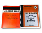 SET ALLIS CHALMERS WC WF TRACTOR SERVICE REPAIR MANUAL PARTS CATALOG TECHNICAL
