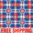 Chicago Cubs Fleece Fabric 60 Wide Free Shipping Style MLB CHI 6612