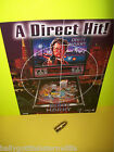 PINBALL MACHINE NOS FLYER + NOS PLASTIC PROMO FOR 1995 WILLIAMS DIRTY HARRY