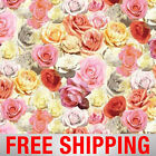 Fleece Fabric Rose Floral 60 Wide Free Shipping Style AA 42305