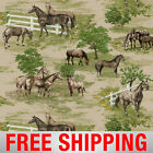 Fleece Fabric Horse Style 44189 60 Wide Free Shipping
