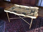 VTG 50s ITALIAN faux Bamboo TOLE TRAY COFFEE TABLE raymor Era HOLLYWOOD MOROCCAN