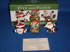 **CLEARANCE** FITZ and FLOYD Gifts from Santa Tumblers 2005 Christmas (F11-1)