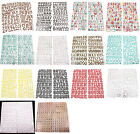 Chipboard Adhesive A Z 0 9 Symbol Alphabet Letters Numbers Stickers Set Craft