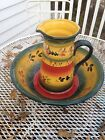 Tabletops Gallery La Province Handcrafted Hand painted Pitcher And Bowl