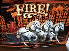 FIRE Pinball Machine Original Williams 1988 NOS Pinball Translite Backglass Art