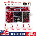 223PCS Motorcycle Sportbike Windscreen Fairing Bolts Kit Fastener Clips Screws
