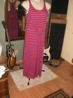 in the mixpretty pink stripedlong stretchy comfortable racer back dresssz XL