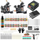 Solong Complete Tattoo Kit 2Pro Machines Shader Liner Power Box Ink Needle TK224