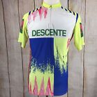 Vintage Descente Neon Cycling Jersey Large