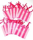 VICTORIAS SECRET GIFT PAPER BAG PINK STRIPE LOT 12 NEW